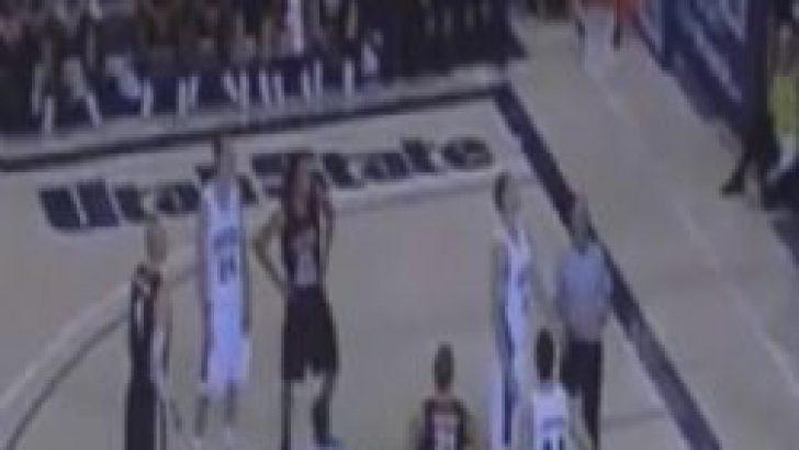 Basket topunun çemberde kaldığı an