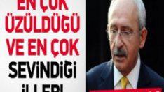 Kılıçdaroğlu'nun en sevindiği ve en üzüldüğü iller!