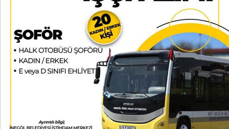 İnulaş 20 Halk Otobüsü Şoförü Alacak